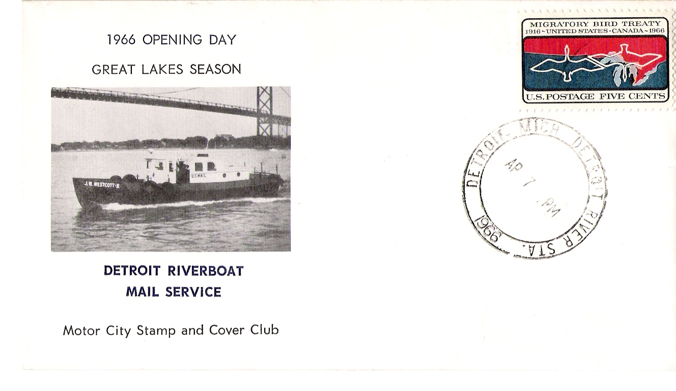 image of mail boat opening day